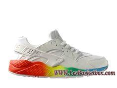 official photos b3ffd 1563a Nike Air Huarache Blanc Color 318429_ID1 Homme Nike Urh Pas cher Pour  Blances/Rouge -