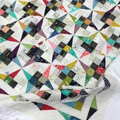 """382 Likes, 17 Comments - Modern Quilter (@themodernquilter) on Instagram: """"Fresh off the machine, I'm in love with this quilt!! I want it on my couch... like right now!…"""""""