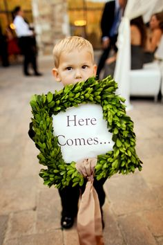 """Here Comes..."" cutest way to introduce the newly married couple! #signage @peppernix"