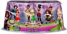 Disney Fairies Figurine Play Set - The Pirate Fairy .possible birthday cake figurines. Pirate Fairy Party, Fairy Birthday Party, Barbie Birthday, Birthday Cakes, Disney Figurines, Fairy Figurines, Collectible Figurines, Pixie Hollow Party, Cute Birthday Ideas