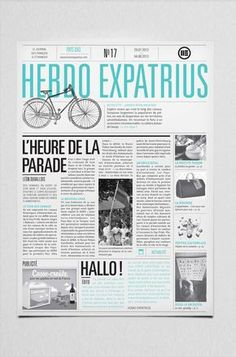 graphiste strasbourg freelance print journal magazine plaquetteYou can find Newspaper design and more on our website. Newsletter Layout, Newsletter Design, Newsletter Templates, Design Editorial, Editorial Layout, Newspaper Layout, Newspaper Cover, Magazin Design, Yearbook Design