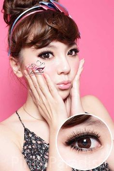 G&G Xxtra Larger Hyper Size Circle Brown - Circle Lenses & Colored Contacts | PinkyParadise