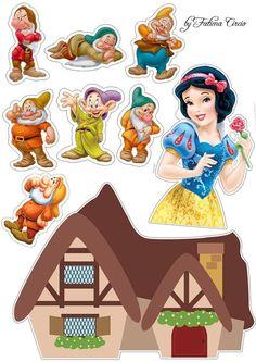 Cake Designs For Girl, Wood Yard Art, Princess Cake Toppers, Disney Princess Babies, Cake Templates, Snow White Birthday, Snow White Disney, Homemade Stickers, Disney Lion King