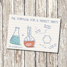 Science Chemistry Birthday Invitation  Printable by deedubdesigns, $9.50