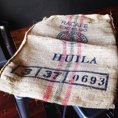 Check out this lovely burlap coffee bag that came in to #winansdowntowntroy today! You can pick one up at our Miami Co locations for $5 a piece. Check out our @pinterest page for lots of burlap crafts and DIYs!