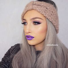 """Purple vibes Products used: @nyxcosmetics : Eyes: Face & body glitter in shade """"Silver"""" Applied with NYX glitter glue Lips: liquid suede in shade """"Amethyst"""" and """"Sway"""" in the center @makeupgeekcosmetics : cupcake, curfew & Motown in the crease @anastasiabeverlyhills : dip brow in shade """"Dark Brown"""" @beccacosmetics : highlight in shade """"Champagne Pop"""" @mikasabeauty : essential eye brush kit (JEWLIE15) for 15% off any brush set #makeup #makeupartist #mua #makeupaddict #makeupjunkie #i..."""