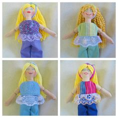 Blonde Dress Up Doll  Handmade Dolls by JoellesDolls on Etsy, $25.00