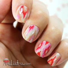IKAT nail art by Nailistas