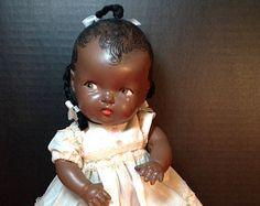 Composition African American Baby Doll. She's so pretty! I will find another one.  Dolls and Doll Stuff by Sondra on Etsy