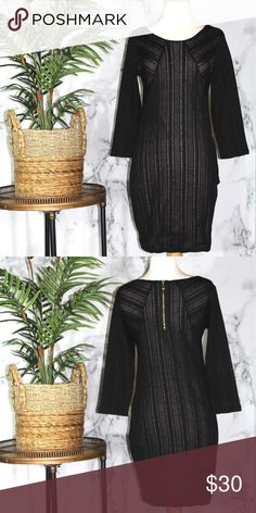 Sanctuary Long Sleeve Black Dress Length 34 Inches Bust 32 Inches Sleeves 19 Inches  100% Polyester Lining 100% Rayon Sanctuary Dresses