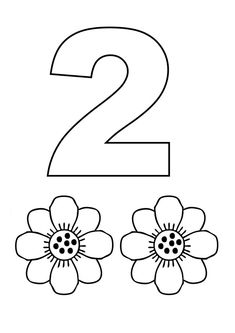 Numero 2 com figuras