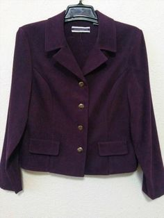 16.95$  Watch now - http://vipva.justgood.pw/vig/item.php?t=kh7tto57862 - Amanda Smith Womens Stretch Dress Jacket Size 12 Purple Long Sleeves Blazer 16.95$