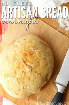 My family loves this classic recipe for overnight artisan bread - they devour it every time I make it! It's so easy too, no kneading involved, rises overnight and costs just 69¢ per loaf! :: DontWastetheCrumbs.com