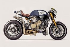 pipeburnIntroducing 'The Blue Shark' Ducati Panigale R cafe racer - arguably the world's fastest cafe racer Ducati Cafe Racer, Cafe Racer Motorcycle, Cafe Racers, Ducati 796, Buell Cafe Racer, Retro Motorcycle, Classic Motorcycle, Motorcycle Quotes, Motorcycle Design