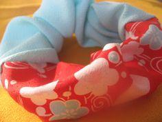 Kimono scrunchie scrunchy ponytail holder by Natsu3Needlework, $5.55