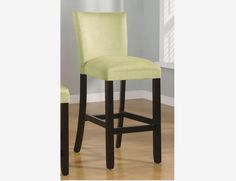 "2 PC Casual Light Green Microfiber 29"" Bar Stools Coaster 100590GRN"