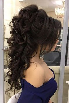 High Ponytail Hairstyles - Page 7 of 17 - Inspired Beauty quinceanerahairstyles High Ponytail Hairstyles, Prom Hairstyles For Short Hair, Short Curly Hair, Wedding Hairstyles, Short Hair Styles, Graduation Hairstyles, Quince Hairstyles, Hairstyles Haircuts, Quinceanera Hairstyles