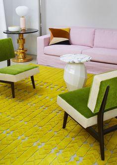 Acid pop! Love India Mahdavi's beautifully textured rugs for the famous Cogolin…