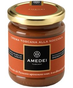 Crema alla nocciola - The antique world of Amedei chocolate could not possibly miss the Gianduia cream spread. Prepared with carefully selected ingredients, you are able to enjoy spread on bread at any hour of the day, and also for those with a particularly sweet tooth, even in the evening. Perfect for #breakfast, as a snack or as a #dessert after dinner. It has the characteristic taste of hazelnuts from Piedmont, a smooth and creamy chocolate made with only the best cocoa seeds. #Passion…