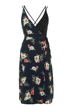 Floral Wrap Slip Dress 52€
