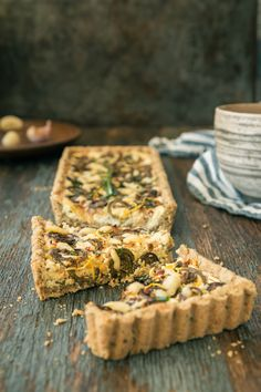 Fiddlehead & Ricotta Tart with Oat Crust is the perfect recipe for brunch, lunch & dinner. If fiddleheads aren't in season, this tart also tastes divine made with asparagus. Click for FREE recipe.