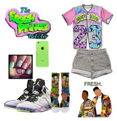 """""""Fresh prince of bel-air"""" by haileycouture ❤ liked on Polyvore featuring NIKE"""