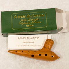 Ocarina di Budrio SOL2.  In terracotta, ocarina di Budrio originale dal costruttore Fabio Menaglio.