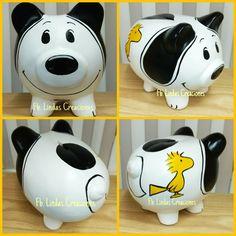 Alcancía personalizada Snoopy #lindascreacionesxalapa