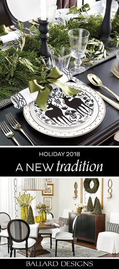 Shop holiday home trends! – Ballard Designs Shop holiday home trends! Shop holiday home trends! Christmas Table Settings, Christmas Tablescapes, Christmas Table Decorations, Holiday Tables, Christmas Themes, All Things Christmas, Christmas Holidays, Thanksgiving Table, White Christmas