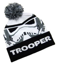 Stormtrooper Pom-Pom Beanie - Adult on #zulily *the puff ball cracks me up