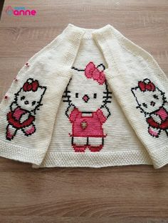 Baby Sweaters, Baby Knitting Patterns, Free Pattern, Hello Kitty, Winter Hats, Fashion, Baby Coming Home Outfit, Vestidos, Tunisian Crochet