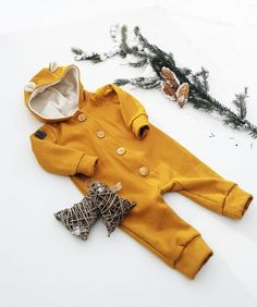 f98c5ca9b55 Bear Hoodie Overall with wooden buttons 5 colours | Baby Girl Boy Toddler  Kids Warm Jumpsuit | Hipster Kids Clothes | Winter baby clothes