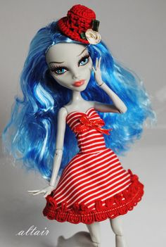 Ghoulia in a lovely red dress!