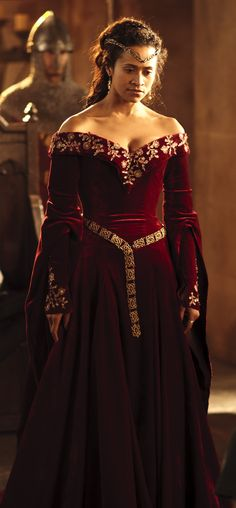 Queen Guinevere's red formal dress!