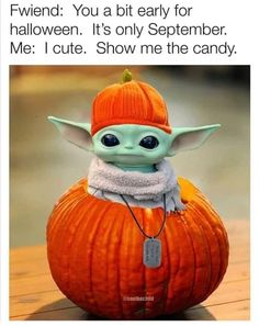 Cute Memes, Funny Cute, Funny Memes, Halloween Artwork, Halloween Fun, Laugh Till You Cry, Inspirational Quotes With Images, Baby Groot, Nerd Love