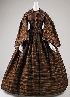 Wedding dress Date: 1860 Culture: American Medium: silk