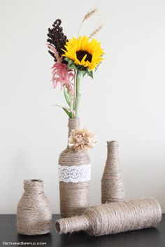 Upcycle Glass Bottle Vase