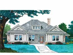 Craftsman House Plan with 2610 Square Feet and 4 Bedrooms(s) from Dream Home Source | House Plan Code DHSW68943