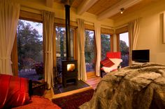 Remote luxury honeymoon retreat, Romantic cottage Abergavenny, Wales, UK    Hafod Glan Gwy is the perfect romantic cabin by the riverside. Relax and listen to the sounds of the water and enjoy the warmth from the log burner......    http://www.sheepskinlife.com/relax-at/hafod-glan-gwy/#
