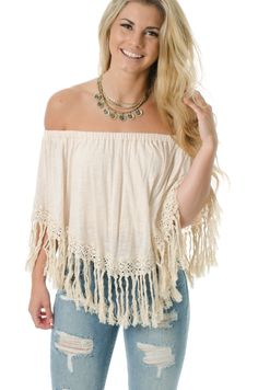 L. Mae Boutique - Natural Beauty Fringe Top, $52.85 (http://www.lmaeboutique.com/naturally-beautiful-fringe-top/)