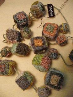 Sophie Digard`s crochet necklace cubes