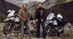 Charlie Boorman, Ewan McGregor. Long Way Down and Long Way Round adventure moto series.