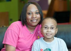 """""""Talking to other moms and parents who are going through the same thing is comforting; we're not alone. We have our own little support group here at Ronald McDonald House of Memphis."""" – Quintella, Zarek's mom."""