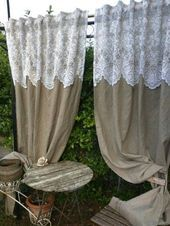 Creative and Affordable Cool Tips: Short Curtains No Sew Vintage Curtains . curtain rods Creative and Affordable Cool Tips: Short Curtains No Sew Vintage Curtains . Short Curtains, Drop Cloth Curtains, Burlap Curtains, Drapes Curtains, Purple Curtains, Country Curtains, Curtains Living, Bedroom Curtains, Beige Curtains