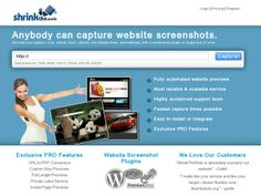Try our free service for high quality automated website screenshots.
