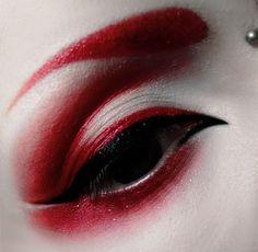 Red Makeup Effective pictures that we offer via creative makeup . - Red makeup up Effective images we offer through creative makeup A quality image can te - Eye Makeup Art, Red Makeup, Goth Makeup, Dark Makeup, Eye Art, Makeup Inspo, Eyeshadow Makeup, Makeup Inspiration, Eyeliner