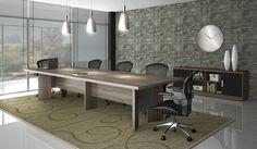 mesas de escritório planejadas de renião