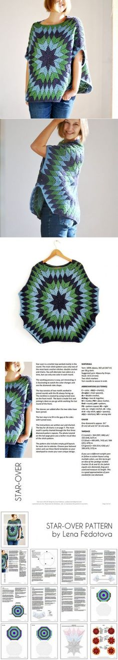 Crochet Start Over Poncho Pattern - New Craft Works
