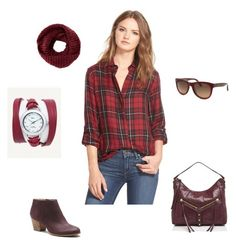 """""""Fall Color Trend: Burgundy"""" by lamer-collections ❤ liked on Polyvore featuring Mode, Sam Edelman, Sole Society, Botkier, TOMS, Salvatore Ferragamo und La Mer"""