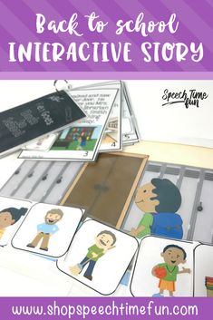 Ben Goes Back To School - back to school interactive story and follow up activities to target speech and language goals such as sequencing, wh questions, story recall, following directions, comprehension, and more!